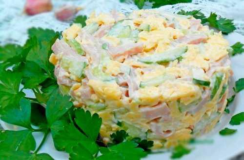 салат мимоза с сыром и рисом